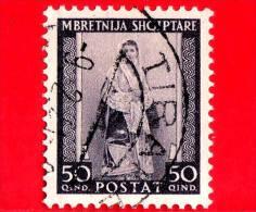 ITALIA - ALBANIA - Usato - Occupazioni - 1939 - Costume Albanese Del Sud - 50 Q - Albania