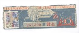 Billet Loterie Nationale - Les émissions De L'empire Français - 30ème Tranche 1950 - Billets De Loterie