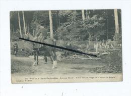 CPA - Forêt De Villers Cotterêts - Equipage Menier - Hallali Dans Le Potager De La Maison De Retraite-Chasse à Courre - Villers Cotterets