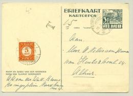 Nederlands Indië - 1949 - 5 Ct Portzegel Op 3,5 Ct Briefkaart - Netherlands Indies