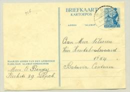 Nederlands Indië - 1949 - 5 Cent Briefkaart Danseres Van Depok Naar Batavia - Netherlands Indies