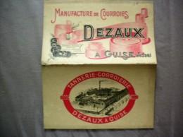 MANUFACTURE DE COURROIES DEZAUX A GUISE AISNE DEPLANT PUBLICITAIRE - Publicités