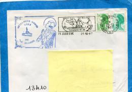 """Marcophilie-lettre-  Cad  1987 Du Porte Hélicoptères """"Jeanne D'Arc""""+flamme  Campagne 87-88 - Naval Post"""