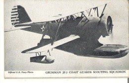 Grumman JF-2 Coast Guards Scouting Squadron Post Card Size Blank Back Official U. S. Navy Photo - Airplanes
