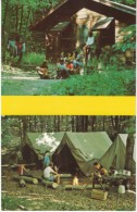 Hiram Ohio Boy Scout Camp Asbury, Camping, Tents Scouting, C1960s/70s Vintage Postcard - Scouting