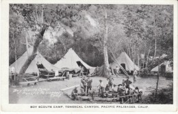 Pacific Palisades California, Boy Scout Camp Temescal Canyon, C1930s Vintage Postcard - Scouting