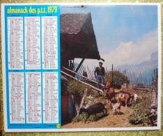 -- ALMANACH DES P.T.T. 1979  OBERTHUR -  DOUBLE FACE - LEVACHE (Hautes-Alpes) - CLELLES-EN-TRIEVES