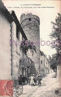 26 -  NYONS -  Rue Des Ecoles - Tour Des Anciens Remparts - Groupe D'enfants  - 1907 - 2 Scans - Nyons