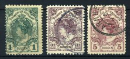 NEDERLAND 77/79 Gestempeld 1899 - Koningin Wilhelmina - 1891-1948 (Wilhelmine)