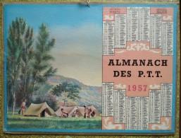 -- ALMANACH DES P.T.T. 1957  OLLER  -  CAMPING  --