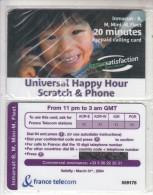 TAAF - France Telecom Satellite Prepaid Card 20 Min, Exp.date 31/03/04, Mint - TAAF - Franse Zuidpoolgewesten