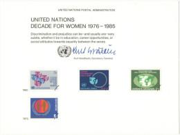 ONU - NAZIONI UNITE - UNITED NATIONS - NATIONS UNIES - 1980 - Souvenir Card - Decade For Women 1976-1985 - New York - Sede Centrale Delle NU