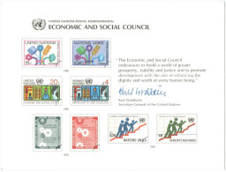 ONU - NAZIONI UNITE - UNITED NATIONS - NATIONS UNIES - 1980 - Souvenir Card - Economic And Social Council - New York - Sede Centrale Delle NU