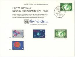 ONU - NAZIONI UNITE - UNITED NATIONS - NATIONS UNIES - 1980 - Souvenir Card - Decade For Women 1976-1985 - Wien - FDC - FDC