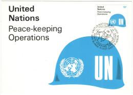 ONU - NAZIONI UNITE - UNITED NATIONS - NATIONS UNIES - 1980 - United Nations Peace-Keeping Operations - Carte Maximum... - Maximum Cards