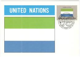 ONU - NAZIONI UNITE - UNITED NATIONS - NATIONS UNIES - 1985 - Flag Series, Sierra Leone - New York - FDC - New York - Sede Centrale Delle NU