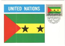 ONU - NAZIONI UNITE - UNITED NATIONS - NATIONS UNIES - 1985 - Flag Series, Sao Tome And Principe - New York - FDC - New York - Sede Centrale Delle NU