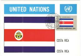 ONU - NAZIONI UNITE - UNITED NATIONS - NATIONS UNIES - 1981 - Flag Series, Costa Rica - New York - FDC - New York - Sede Centrale Delle NU