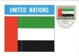 ONU - NAZIONI UNITE - UNITED NATIONS - NATIONS UNIES - 1984 - Flag Series, United Arab Emirates - New York - FDC - New York - Sede Centrale Delle NU