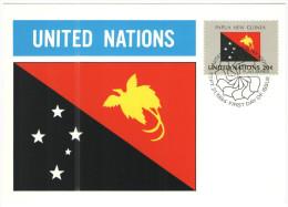 ONU - NAZIONI UNITE - UNITED NATIONS - NATIONS UNIES - 1984 - Flag Series, Papua New Guinea - New York - FDC - New York - Sede Centrale Delle NU
