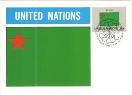ONU - NAZIONI UNITE - UNITED NATIONS - NATIONS UNIES - 1984 - Flag Series, Benin - New York - FDC - New York - Sede Centrale Delle NU