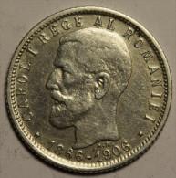 Roumanie Romania Rumänien 1 Leu 1906 Argent Silver # 4 - Romania