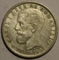 Roumanie Romania Rumänien 1 Leu 1906 Argent Silver # 6 - Roumanie