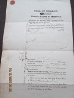 UNITED STATES - District Of BOSTON And CHARLESTOWN  - 1840 BILL OF HEALTH For Ship MASCIO On Voyage To MONTEVIDEO - Documentos Históricos