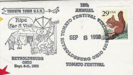 1993  Reynoldsburg TOMATO FESTIVAL EVENT COVER  'TOMATO TOWN USA' Usa Stamps Food Circus - Vegetables