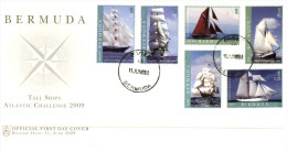 (PH 555) Bermuda FDC Cover - Sailing Ship Tall Race 2009 - Bermudes