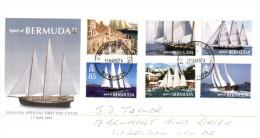 (PH 555) Bermuda FDC Cover - Sailing Ship Spirit Of Bermuda - 2007 - Bermuda