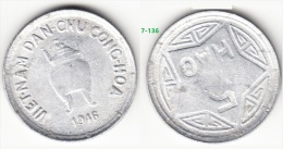Vietnam 5 Hao Aluminum Coin 1946 KM# 2.1 Plain Vase Luster AUNC High Grade Very Rare - Vietnam