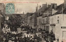 21 - MONTBARD - Cavalcade Du 2 Avril 1905 - Le Défilé  Rue E. Piot - Montbard