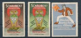 Vignetten/Cinderalla -Werbung... - Schaubek Alben   3  Stück    ( U 5091  ) Siehe Scan  ! - Fantasie Vignetten