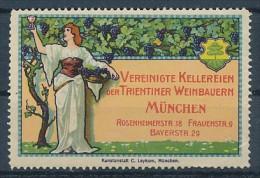 Vignetten/Cinderalla -Werbung... -  Wein      1 Stück    ( U 5045  ) Siehe Scan  ! - Fantasie Vignetten