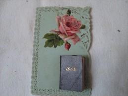 Année 1909 Cpa Ancienne Avec Petit Calendrier Bleu  Voir Scan - Fantaisies