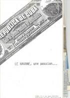 """Belle Documentation Sur Les Cigares  """"HAVANE """". Livre De 18 Pages Et Articles Et Découpes De Journaux . Trés Bien . - Cigares - Accessoires"""