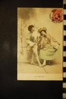 CP, Spectacle, Theatre,  Acteurs En Scene Couple  Le MENUET 1904 - Théâtre