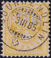 Heimat JU COURRENDLIN 1885-03-03 Vollstempel Auf WZ 15Rp Gelb Zu#63A - 1882-1906 Armoiries, Helvetia Debout & UPU