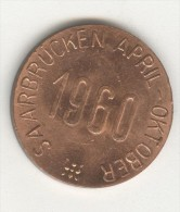 Jeton Deutch Franzosische Gartenschau - Sarrebrucken April Oktober 1960 - Germany