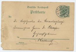 1893 Guhrau (Stpl.Pless) 5 Pfg Karte N.Kattowitz (Abheftlochungen) - Allemagne