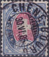 Heimat GE CHENE-BOURG 1885-06-30 Voll-Stempel Auf Telegraphen-Marke 50 C. Selten - Télégraphe