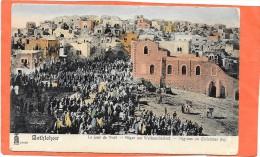 BETHLEHEM  (cpa Israel)  Le Jour De NOEL   Carte Colorisée Début 1900 - Israel