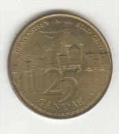 Jeton 25 Gandae - Gravensteen Stad Gent - 1980 - Jetons De Communes