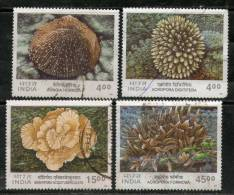 India 2001 Corals Of India Marine Life 4v Sc 1901-4 Used Set Inde Indien - Marine Life