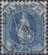 Heimat GE GRANGE-CANAL 1903-03-25 Voll-Stempel Auf 25Rp. Stehende Helvetia Zu#73E - 1882-1906 Armoiries, Helvetia Debout & UPU