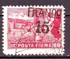 FIUME 1919 N.80 CARMINIO USATO 1 VALORE - Fiume