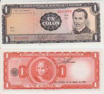 El Salvador 1 Colon 1972/1976 Pick 115 UNC - El Salvador