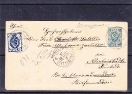 Russie - Estonie - Lettre De 1892 - Entier Postal - Oblitération Reval - Expédié Vers La Finlande - Nikolaistadte ? ? - Briefe U. Dokumente