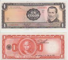 El Salvador 1 Colon 1972/1977 Pick 115 AUNC - El Salvador